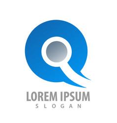 uniqie q letter logo concept design symbol vector image
