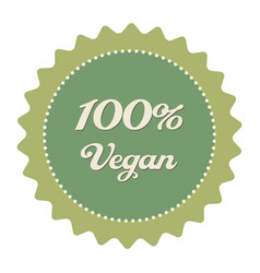 vegan food label vector image