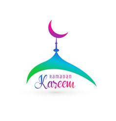Vibrant mosque design for ramadan kareem vector