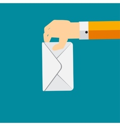 Voting Hand Flat Concept vector image