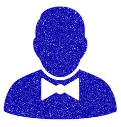 Waiter icon grunge watermark vector