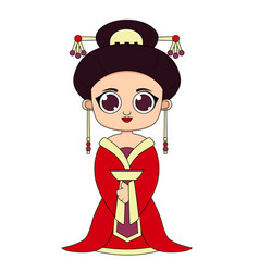 woman in traditional chinese clothes vector image