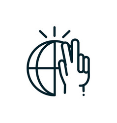 world peace and love hand human rights line vector image