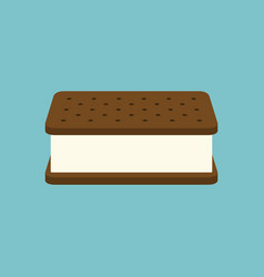 3d ice cream sandwich icon vector