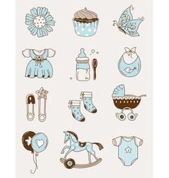 Baby icons -boy vector image vector image