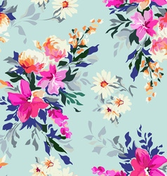 Bright Classic floral print vector image vector image