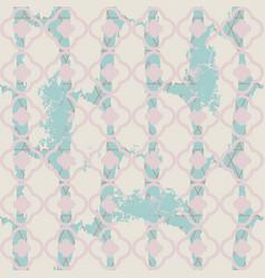 Brushed quatrefoil pale blue seamless vector