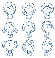 Girls avatar vector image