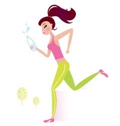 healthy woman vector image