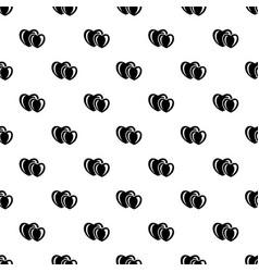 heart love pattern seamless vector image