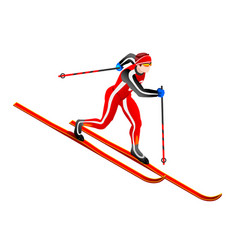 Ski cross-country clipart vector