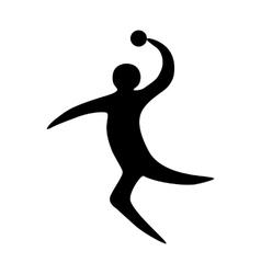 Sportsman man handball player vector image vector image