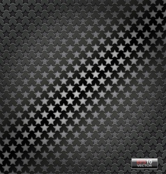Star lite dynamic metal background vector image
