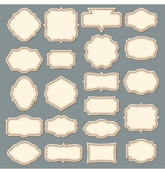 Vintage Label Set Decorative Frame Collection vector image vector image