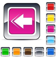 back arrow square button vector image vector image