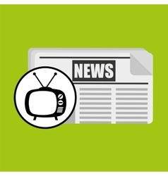 concept news tv retro icon graphic vector image