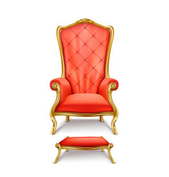 luxurious red throne in realistic style vector image