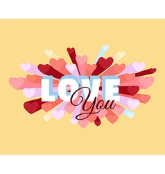 Romance heart spray LOVE greeting card or vector image vector image