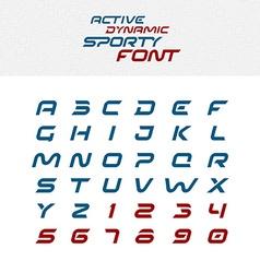 Sport techno font alphabet letters Skew italic vector image vector image