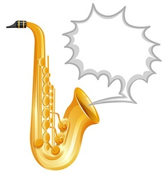 Saxophone on white background vector image