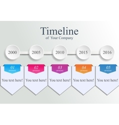 Timeline company template vector image