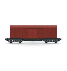 closed wagon isolated on white background vector image