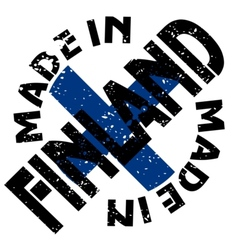 Made in Finland vector image vector image