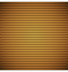Orange Seamless Circle Perforated Grill Texture vector image vector image
