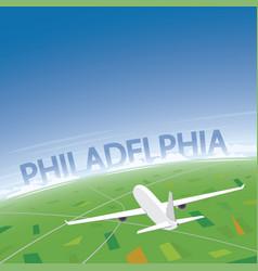 Philadelphia flight destination vector
