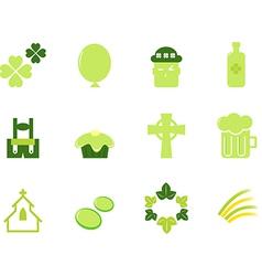 saint patricks day icons vector image vector image