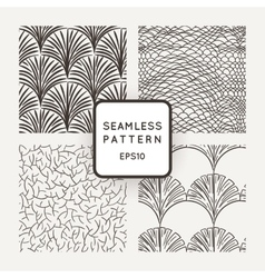 Set of seamless patterns a hand scales vector image