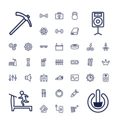 37 power icons vector