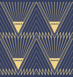 Abstract art deco seamless blue pattern 57 vector