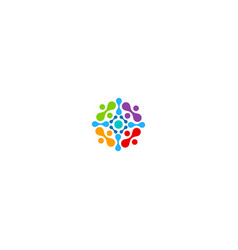 abstract circle ornament colorful business logo vector image