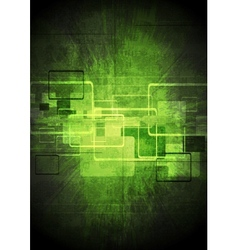 Abstract tech green design vector image