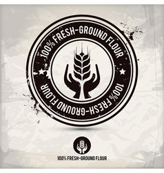 alternative fresh-ground flour stamp vector image