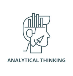 Analytical thinking line icon outline vector