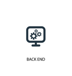 Back end icon simple element vector