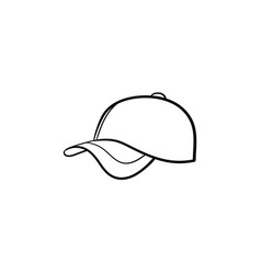 baseball hat hand drawn sketch icon vector image
