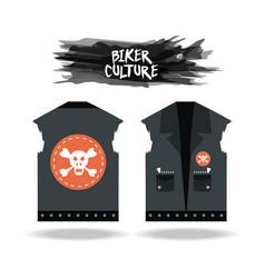 Biker culture design vector