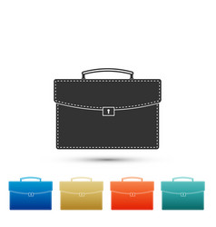 briefcase icon isolated business case sign vector image