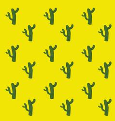 Cactus desert plant background vector