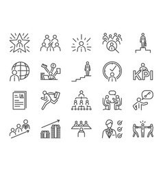 Career path icon set vector