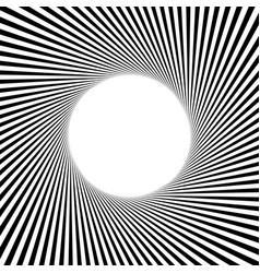 Circular stripes lines geometric pattern vector