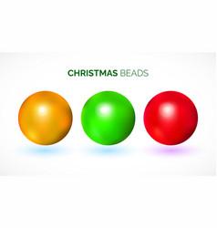 colorful chrismas beads vector image