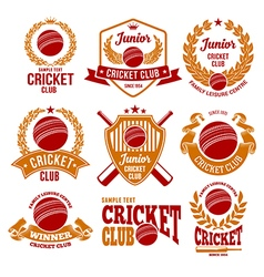 Cricket logo set vector