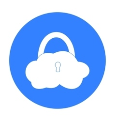 Data cloud security icon in outline style isolated vector image