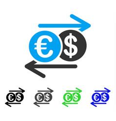 dollar euro exchange flat icon vector image