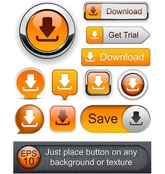 Download high-detailed modern buttons vector