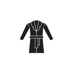 Dressing gown black concept icon dressing vector